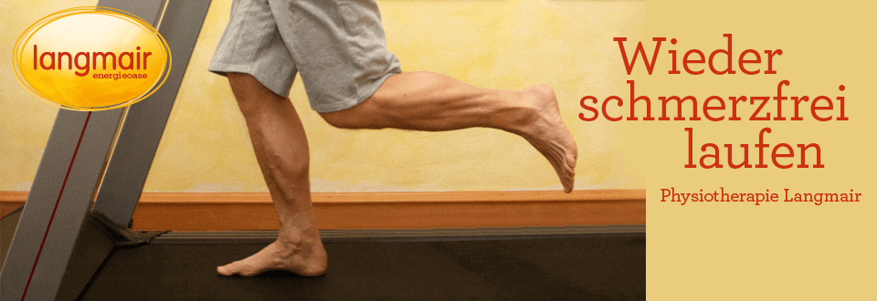 Wieder schmerzfrei laufen | Physiotherapie Langmair Linz